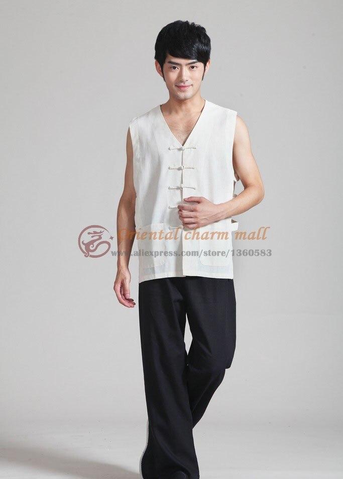 Бесплатная доставка 2016 национальная тенденция белое белье кунг-фу футболка тан-костюм китайский стиль v-воротник пластины маленький круглый футболки