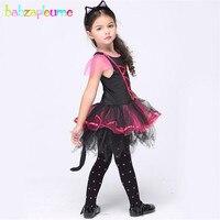 Babzapleume Брендовый комплект одежды для маленьких девочек костюм кошки маскарадный костюм на Хэллоуин детское нарядное платье с юбкой-пачкой ...