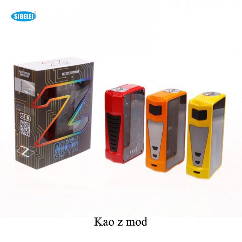 все цены на Original Sigelei E Cigarettes Sigelei Kao z Box Mod 200w Mod Vaporizer TC Vape Support 0.05-0.3ohm Tank Atomizer E-Cigarettes