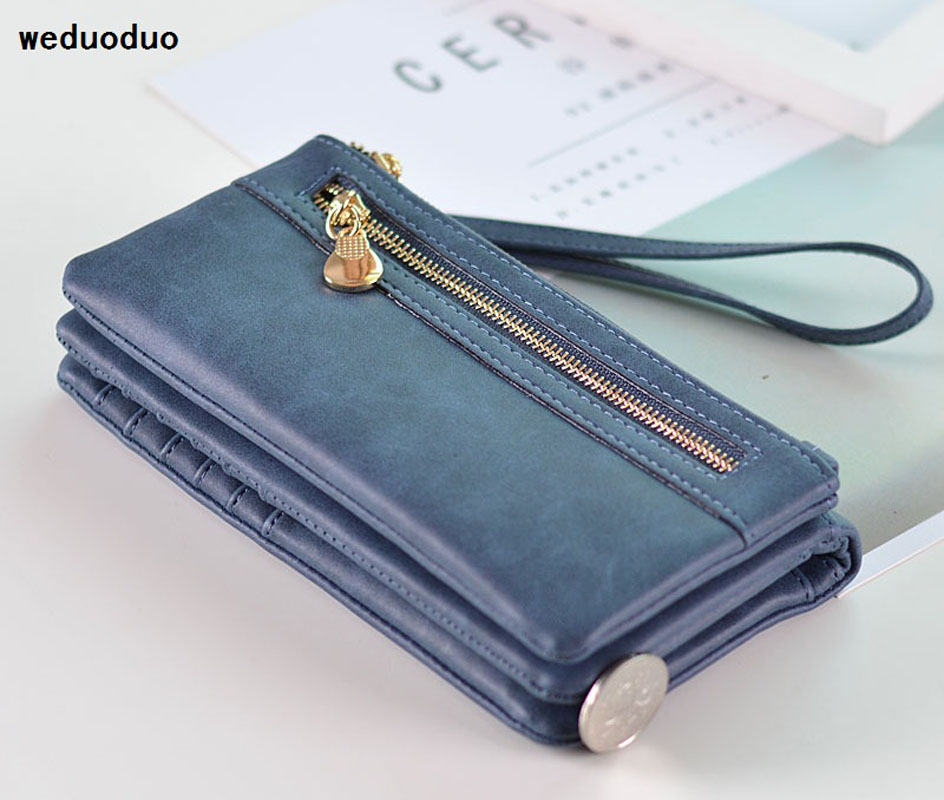 Brand Wallet Fashion Women Wallet Double Zipper Female Clutch Purse Froasted PU Leather Money Case Coin Pocket Card Holder wallet female famous brand long zipper women s wallets pu leather big dollar money bag lady purse with card coin pocket 500503