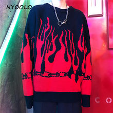 NYOOLO Herbst winter Hip hop pullover Harajuku design lose flügel hülse pullover gestrickte pullover frauen männer kleidung tops(China)