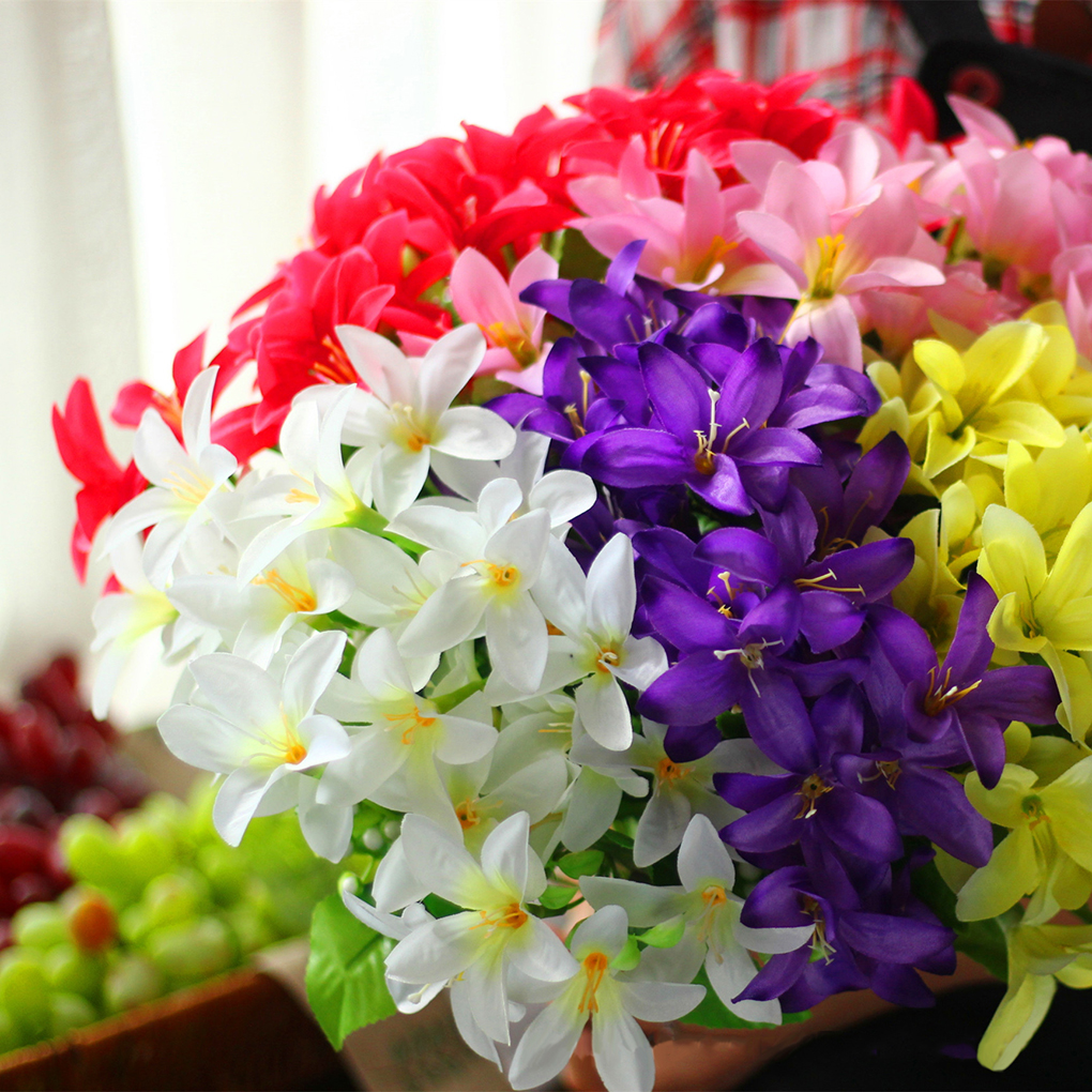 Aliexpress buy simulate silk lilies flower 30 artificial please understand 3 please allow 2 3cm differences due to manual measurementthank you package include 1 artificial lilies flower dhlflorist Choice Image