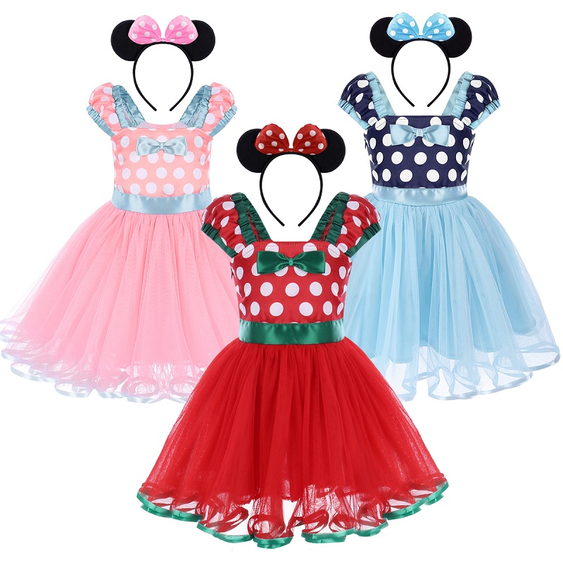 2Pcs Set Mickey Mouse Clothing For Baby Girl 1St Birthday -4010