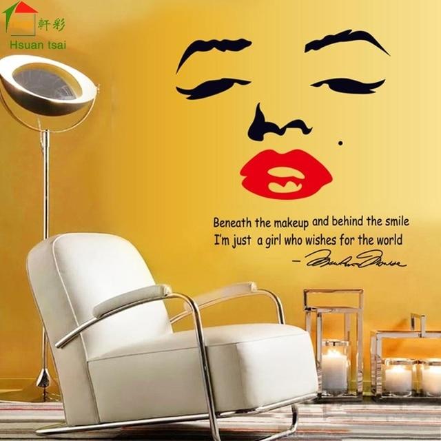 Marilyn Monroe DIY Vinyl Wall Stickers Home Decor Art Decals 3D ...