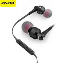 лучшая цена Awei ES-50TY Earphone Noise Isolation In-Ear Earbuds Earphones With Microphone Noise Cancelling For Phone