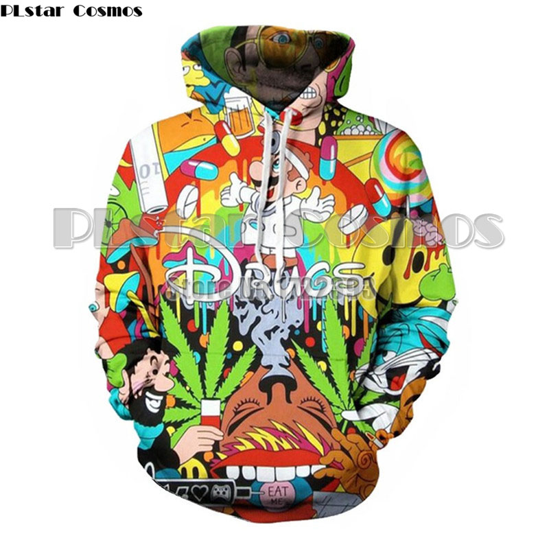 PLstar Cosmos Women Autumn Loose Sweatshirts Cartoon Super Mario 3d Print Hoodie Female  ...