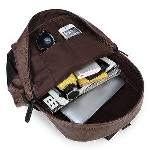 Image 4 - Waterproof Womens bag Schoolbag PU leather Female Male Backpack Fashion Travel a Bag Pack for Teenage Girls Rucksack Mochila