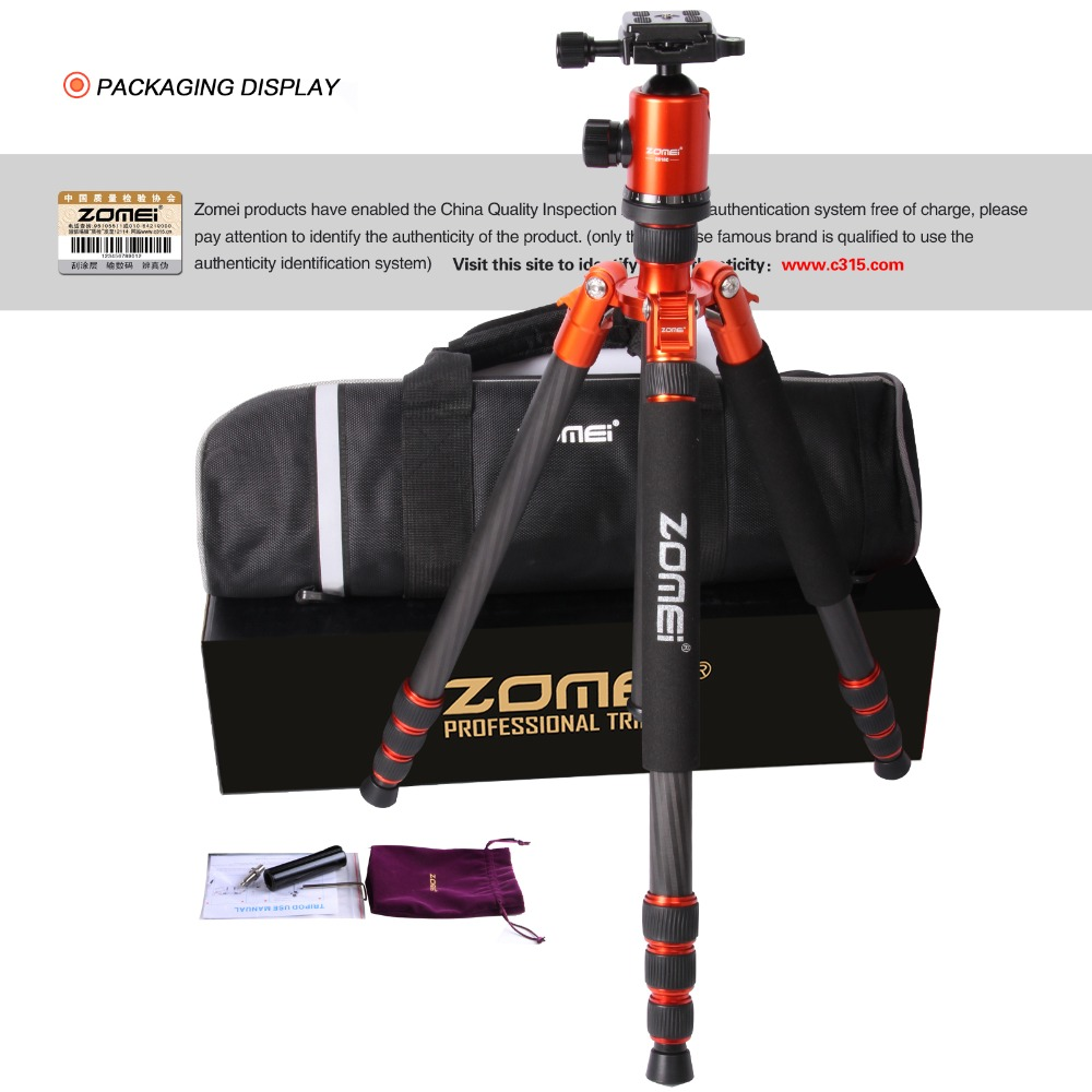 Professional Outdoor Multifunction Portable Aluminum Alloy Tripod with 360 Degree Ball Head Z-XFY Camera Tripod Monopod for DSLR Video Shooting
