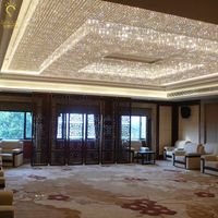 Большой отель инженерно свет прямоугольные зал кристалл потолочный светильник кристалл engineering кристалл светильник Светодиодные лампы