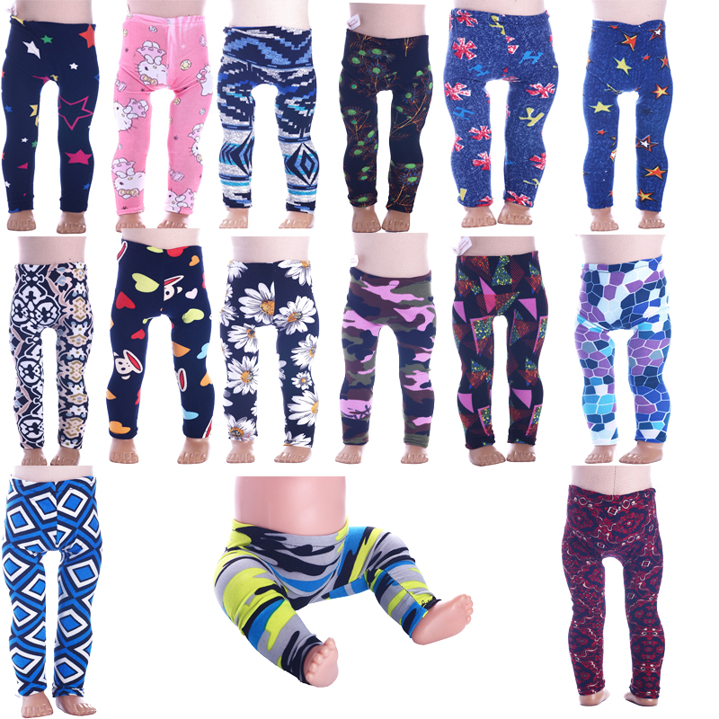 Doll Leggings Color Pattern Clothes Accessories Fit 18 Inch American&43 Cm Born Baby Our Generation Birthday Girl's Toy Gift