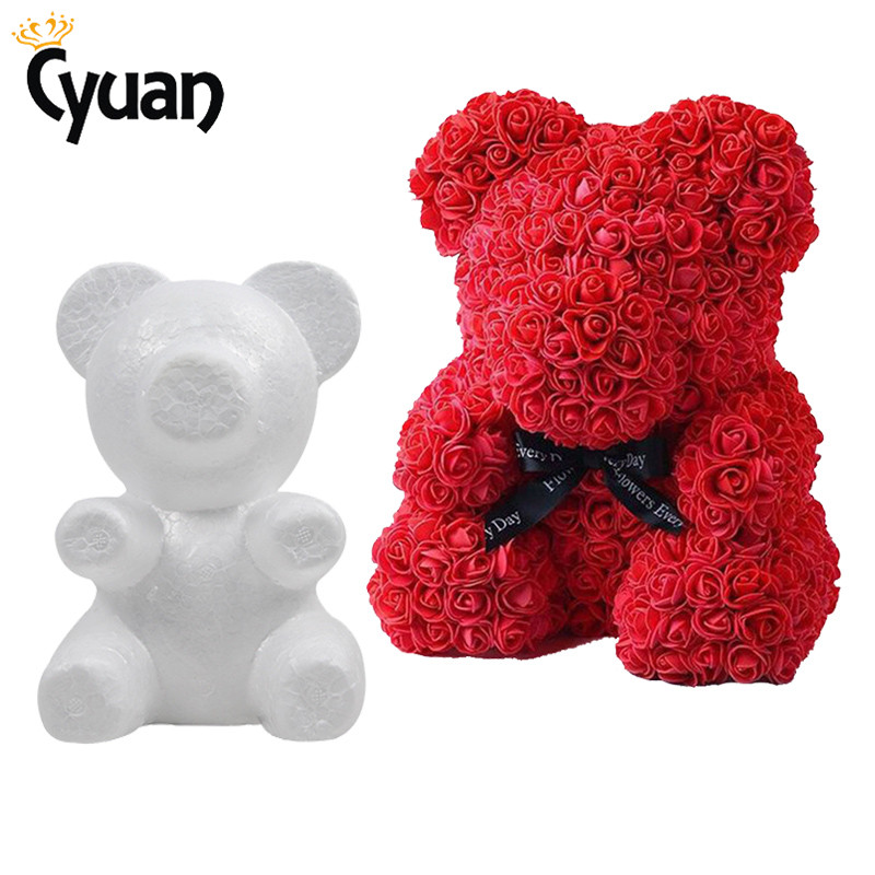 20cm Foam Bear Modeling DIY Craft Valentine Party Decoration Supplies Gift