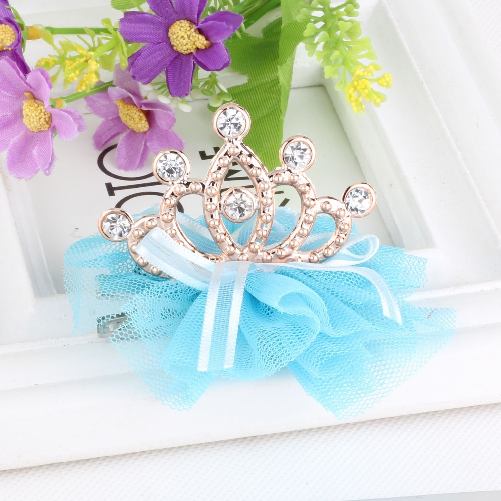 Стиль,, блестящие стразы для девочек, заколка для волос в форме короны с лентой, Детские аксессуары, защитная Милая заколка для волос
