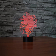 Novelty Nightlights Touch Button Unicorn 3D Led Creative Animal Table Lamp Usb 7 Colors Changing Sleep Lighting Home Decor Gifts acrylic 7 colors changing animal horse led nightlights 3d light led desk table lamp usb 5v lamps for home decoration
