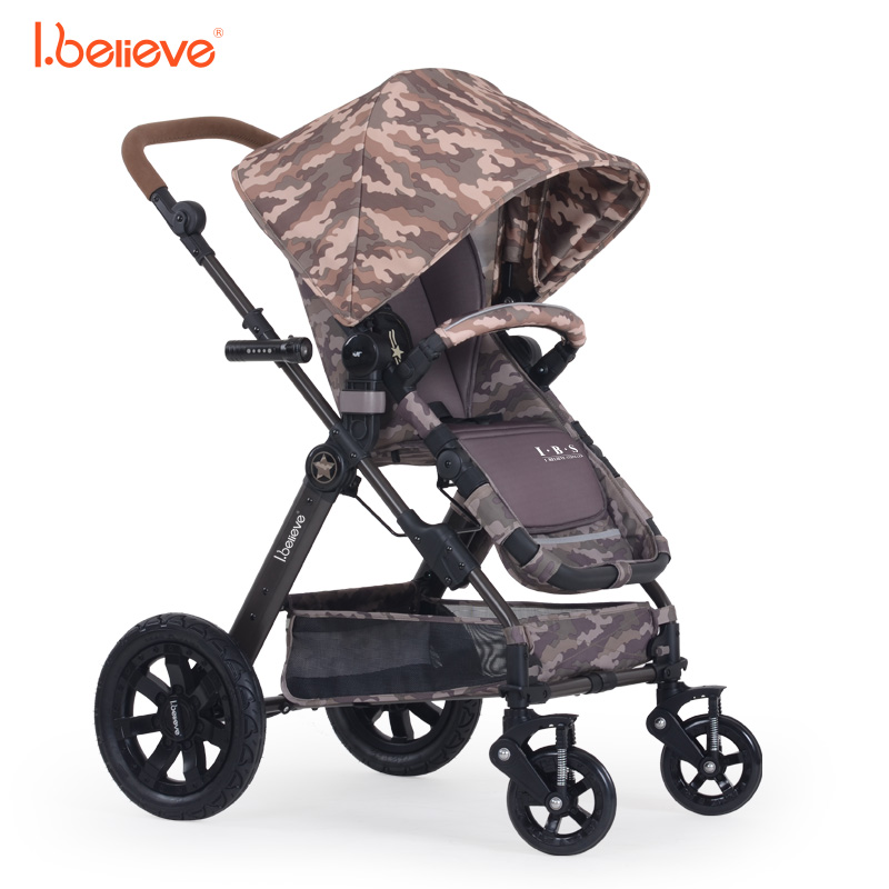 I.believe Baby Stroller B-S207 Aurora Camo Sit&Lie High Landscope Folding Baby Carriage 0-3 Years Pram SGS certification hot selling baby stroller ultra spring shock absorption baby pram sgs was approved