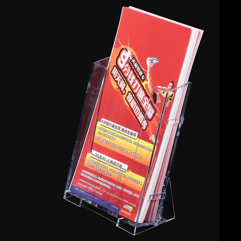 Card Holder & Note Holder Office & School Supplies Clear Acrylic Business Card Holder Brochure Desk Stand Pamphlet Men Bank Credit Card Transparent Holder Office Display