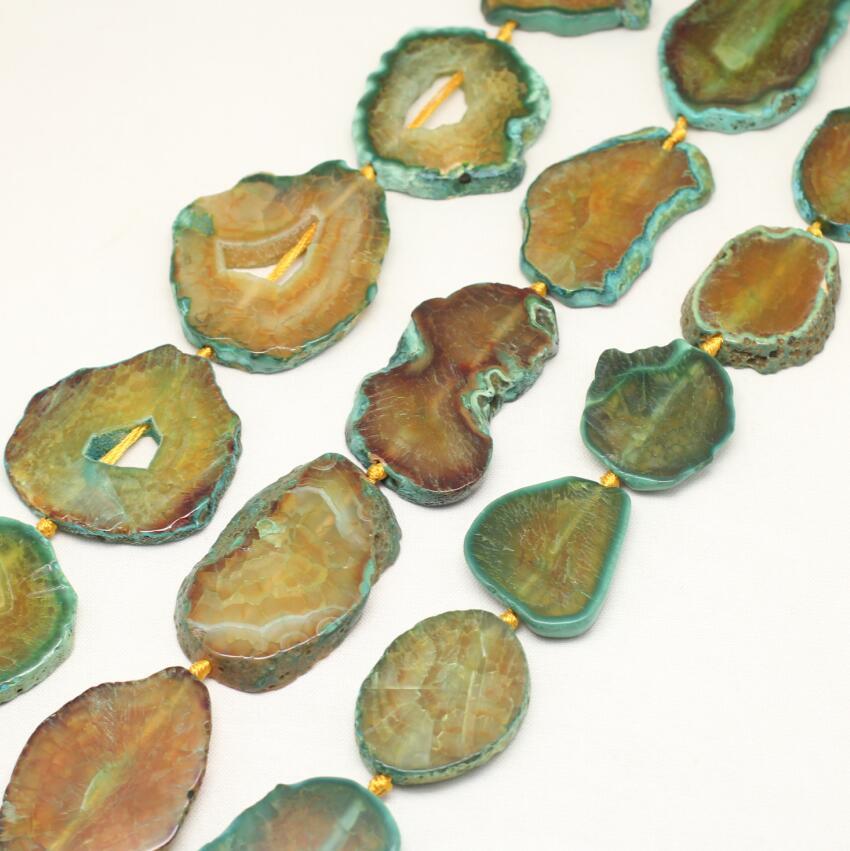 Полный Strand 40-50 мм Большой Природных Дракон вен купля Freeform плиты бисер Подвески, сырье коричневый зеленый купля просверленных бусин Bulk