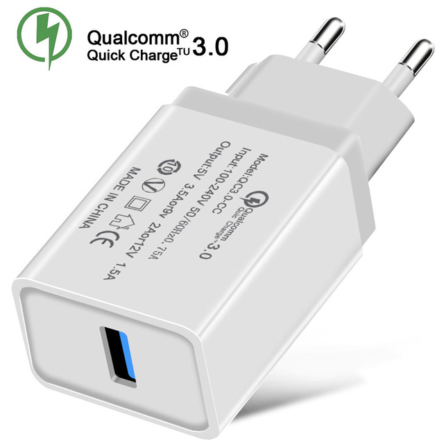 Universal QC3.0 USB Quick Charger 18W Fast USB Charger Wall Mobile Phone Charger For iPhone Samsung Huawei Xiaomi US/EU Plug