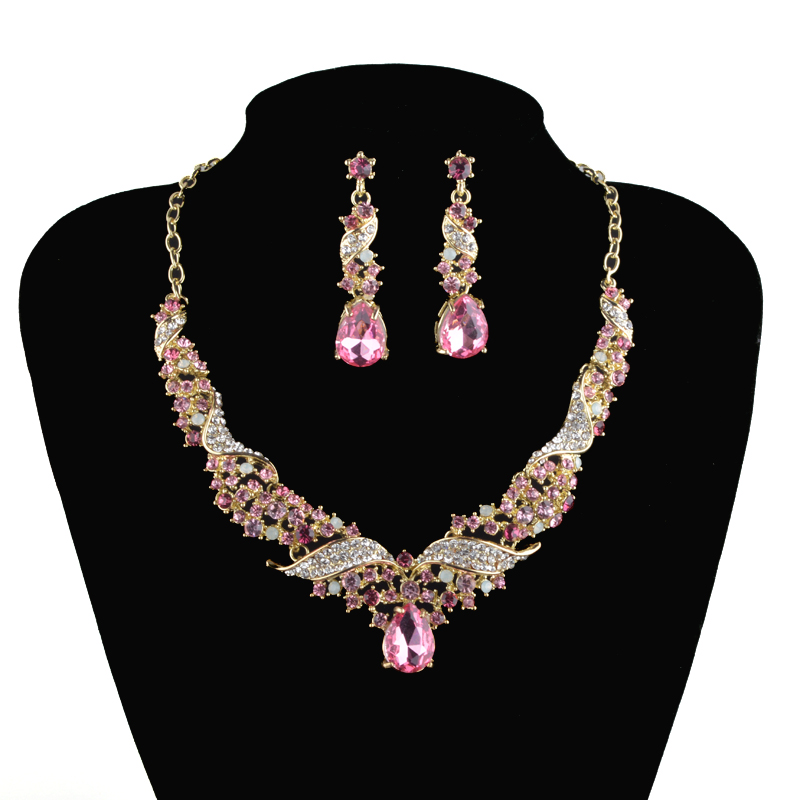 Buy crystal india bridal jewelry fashion for Costume jewelry for evening gowns