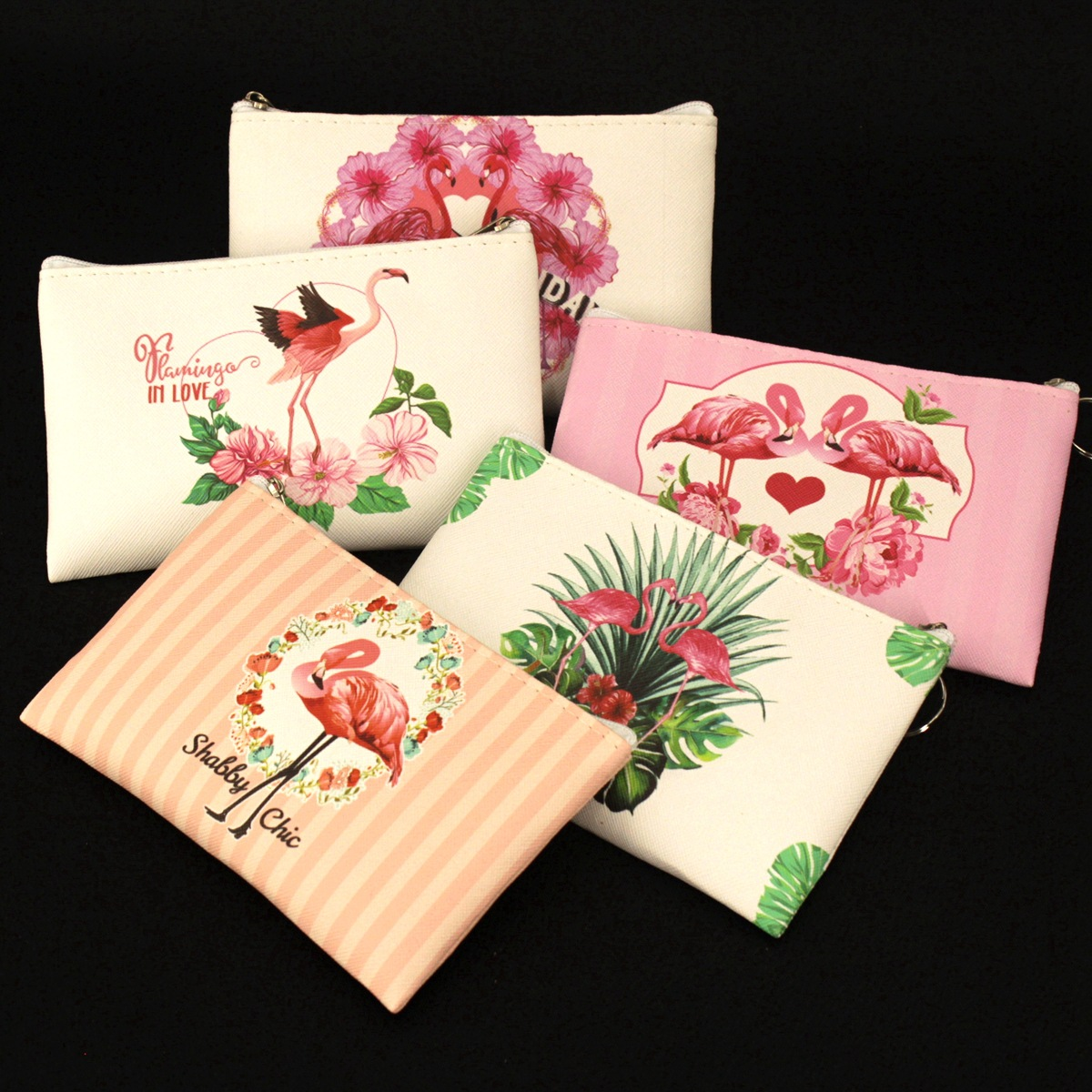 Sweet Flamingo PU Leather Coin Purses Women Small Wallets Ladies Mini Clutch Change Purse Child Girl Zipper Pouch Card Bags