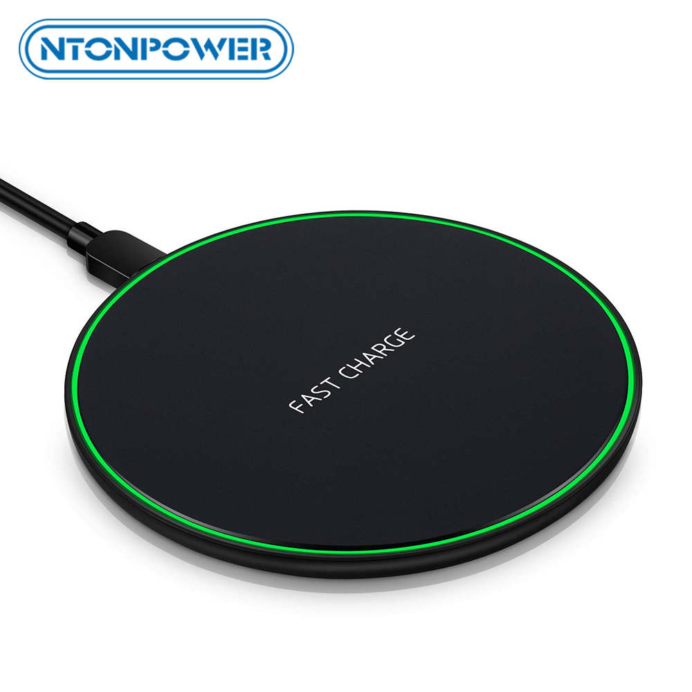 NTONPOWER Wireless Charger Qi Smart Quick Charge Fast Charger 7.5W for Mi MIX 2S iPhone X XR XS 8 plus 10W For Sumsung S9 title=