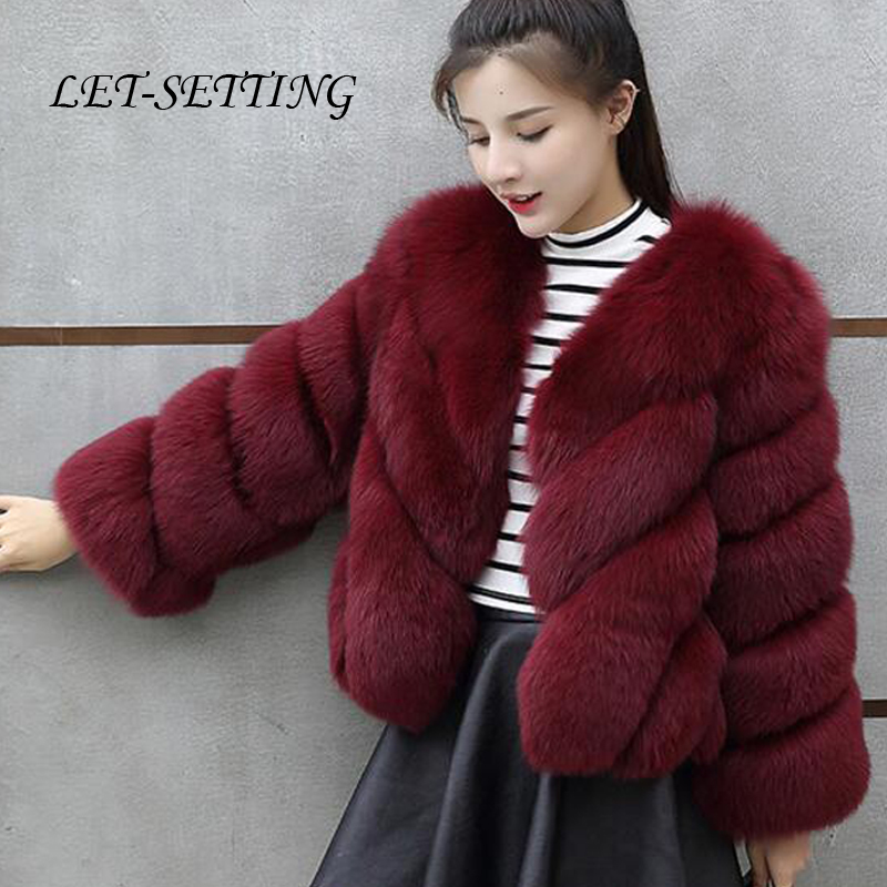 Winter fur coat Korean female short coat large size 4XL faux fur coat short women faux