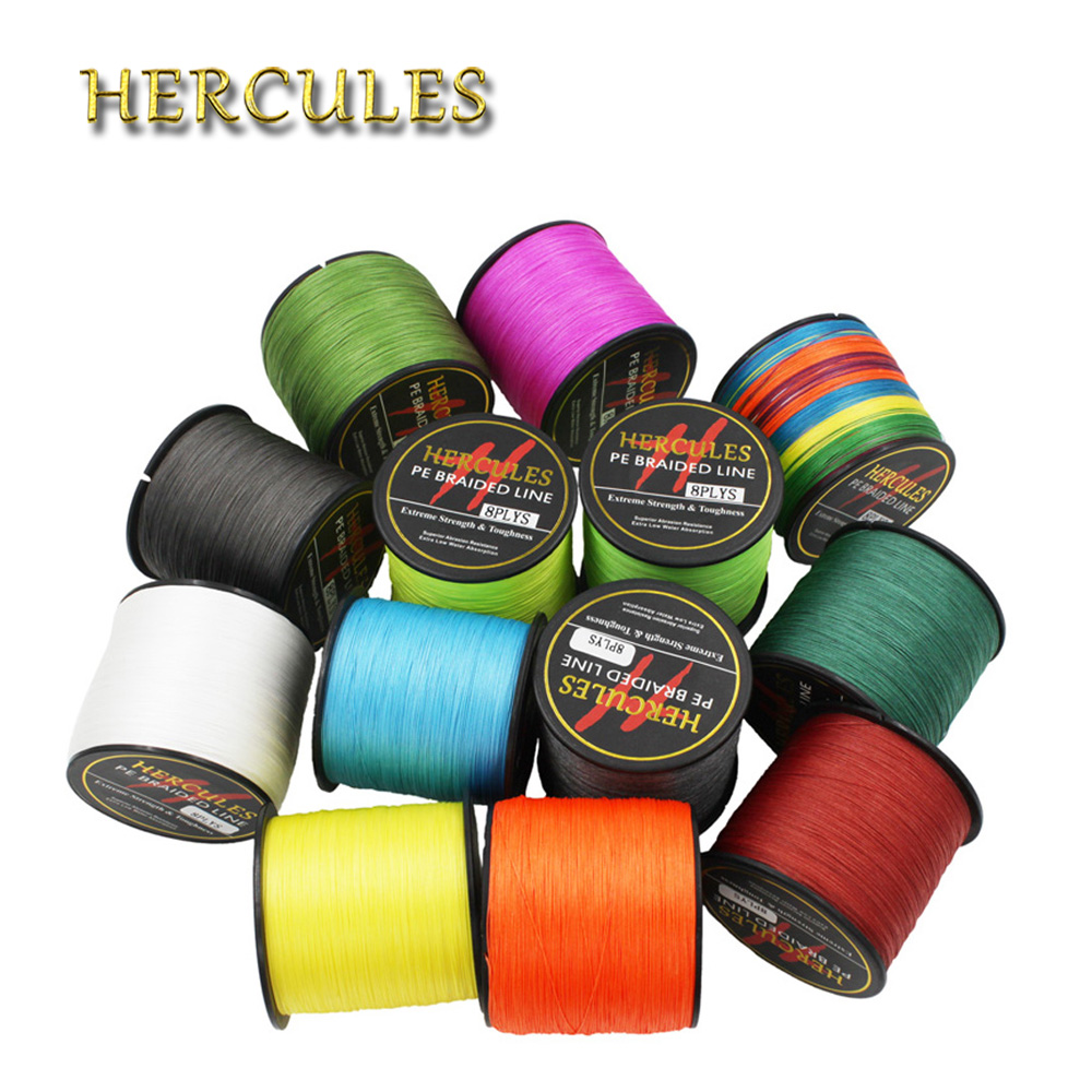 Hercules 1500M Fishing Line 40LB 0.32mm 8 Strands 1640Yds Super Strong Braided Fishing Line Cord Sea Peche Fishing Accessories