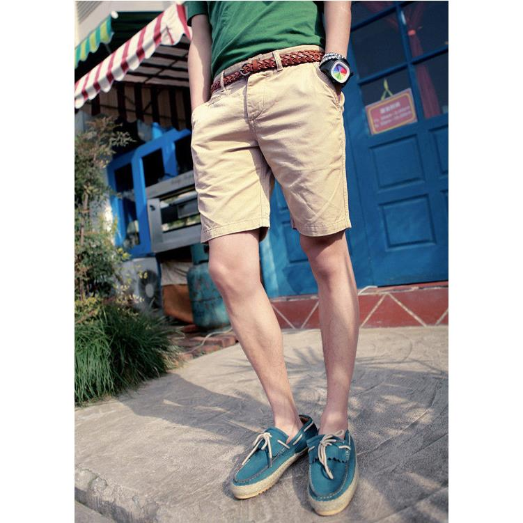 MYTL England Style Casual Shorts Men Cool Summer Knee Length Solid ...