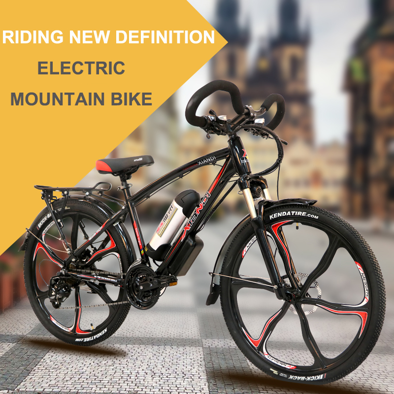 electric bicycle double lithium battery rang 100km. Black Bedroom Furniture Sets. Home Design Ideas
