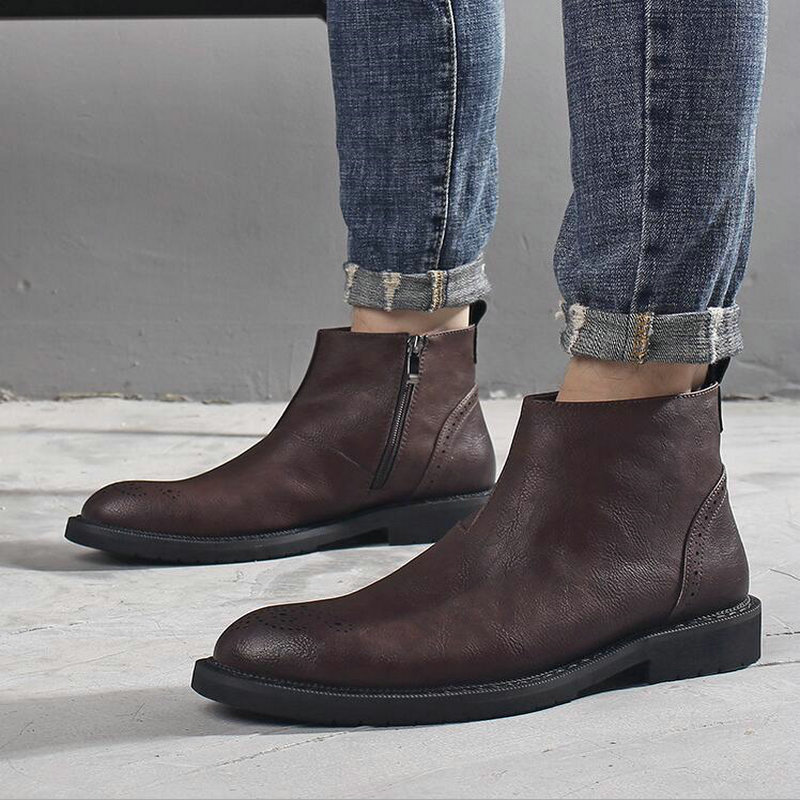 Classic Men shoes Leather Boots Fashion