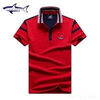 新しいファッションtace &サメポロシャツ男性ブランド夏固体カラー綿
