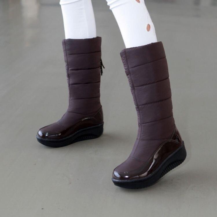 Women Snow Boots Winter Warm Platform Fur Fringe Shoes 36