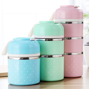 Portable Japanese Stainless Steel Thermal Lunch Box For Office Picnic Lunchbox School Leakproof Thermos Bento Box Food Container