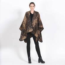 Chic Vintage Cashmere Pashmina Women Leopard Scarfs Winter Luxury Brand Tartan Echarpes Foulards Mujer YJWD797