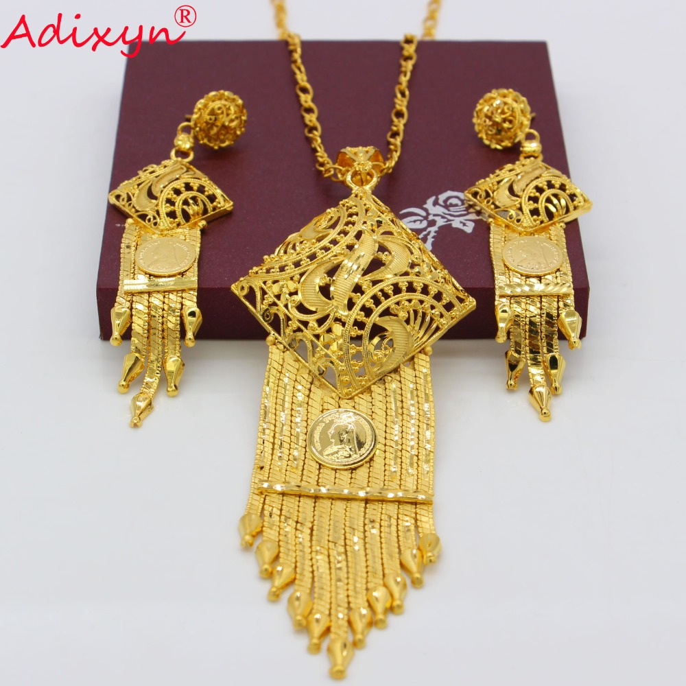 Adixyn 3 Style Ethnic Tassels Necklace/Earrings/Pendant Gold Color/Copper Bridal Wedding Jewelry Set India Party Gifts N082627 футболка классическая printio ждун сын человеческий