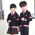 2016 New Autumn Children suits boys and girls school uniforms sweater jacket student class service nursery England