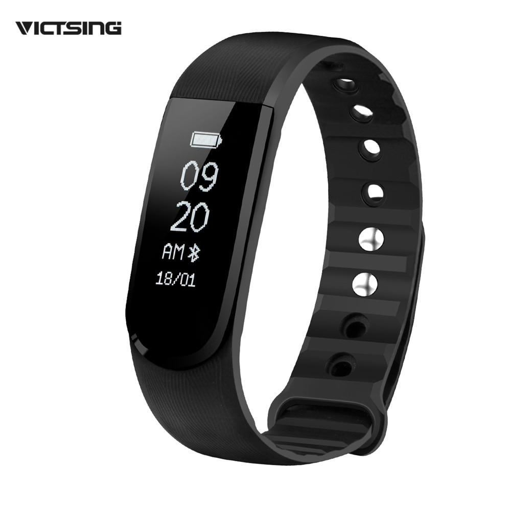 Victsing Bluetooth 4 0 IPX7 Waterproof Smart Wristband Bracelet Sport Fitness Tracker w Music Control Alarm
