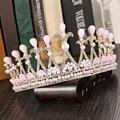 Blanco Crystal Nupcial Corona de La Princesa de Corea joyería de la boda accesorios nupciales del pelo popular accesorios Headwear 1156