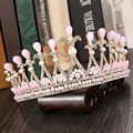 White Crystal Bridal Crown Princess Korean wedding jewelry bridal hair accessories popular accessories Headwear  1156