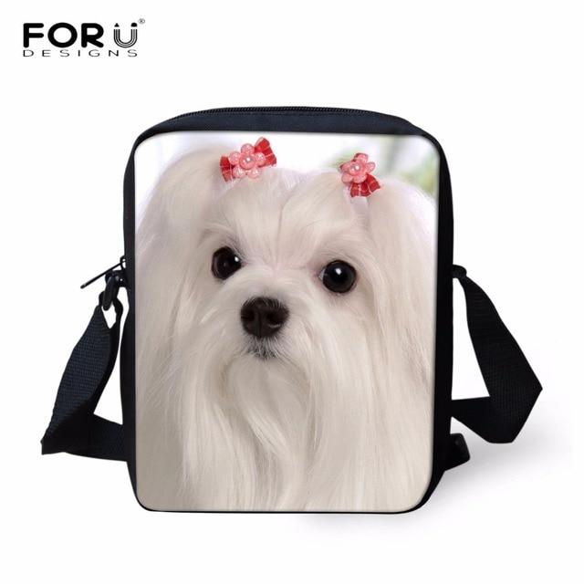 f74cd6f2ec FORUDESIGNS Luxury Women Handbags Cross Body Bags Animal 3D Maltese Dog Pattern  Women s Casual Shoulder Bags Female Messenger