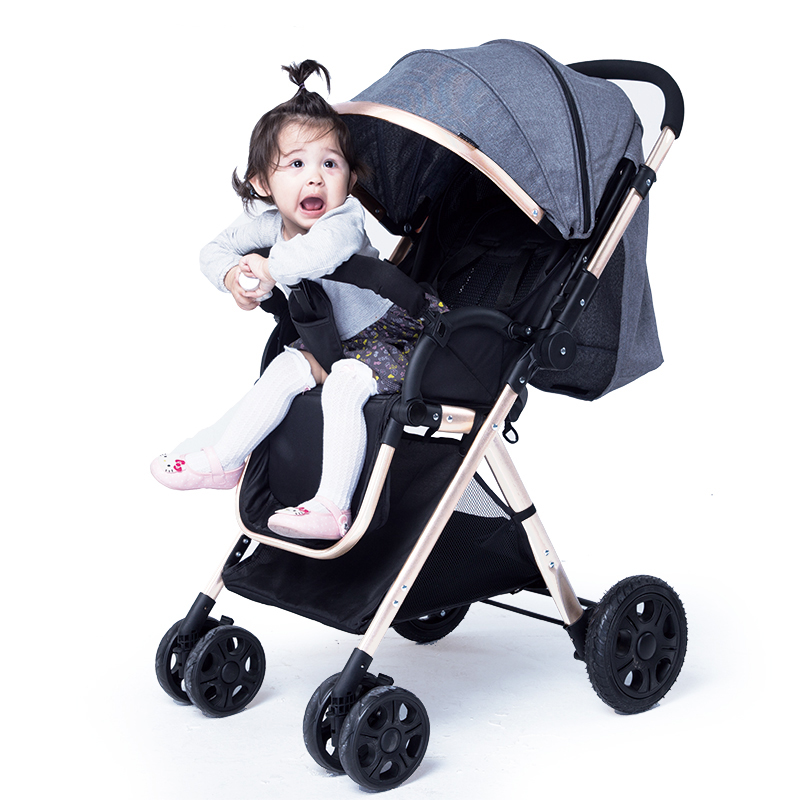 Four Wheels Stroller Activity & Gear Faithful Two-way Folding Light Baby Carriage Four-wheeled Shock Carts High Landscape Can Be Lying Baby Push Cart To Win Warm Praise From Customers