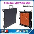 Новые популярные крытый из светодиодов видеостены p4 алюминиевый кабинет 512 * 512 мм полноцветный из светодиодов экран