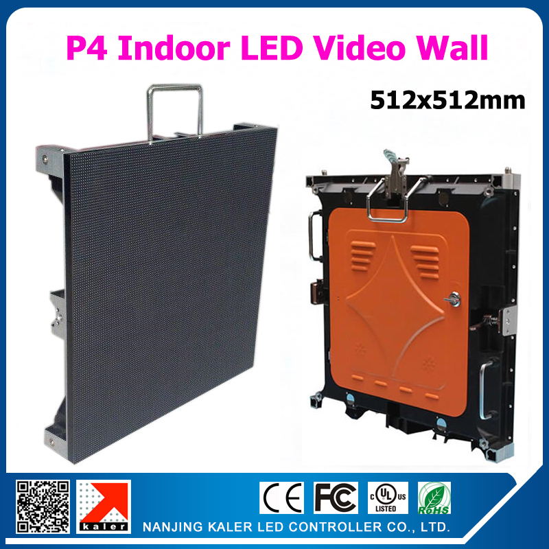 TEEHONew popular indoor led video wall p4 aluminum display cabinet 512*512mm full color rental led display screen videowall