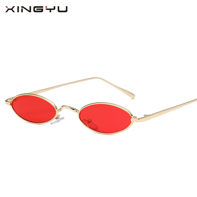 Small Sunglasses Women Men Retro Metal Glasses Transparent Yellow Lens Female Sun Glasses UV400 wcuXx9e