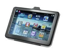 """7 """"pulgadas portátil HD TFT coche GPS navegador Bluetooth AV en Fm 4GB más nuevo mapa gratuito"""