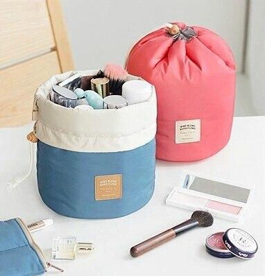 Multifunktionale eimer frauen bilden beutel Wasserdichte qualited kosmetiktasche kulturbeutel reise taschen koffer für damen 2 farbe