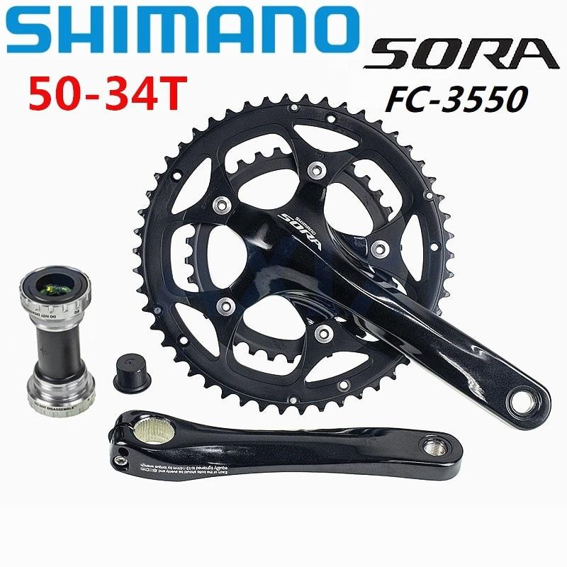 SHIMANO SORA 3550 110BCD Road Bicycle Crankset 34 50T Double Sprocket 9 18 Speed Folding Bike