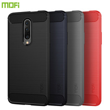 MOFi For OnePlus 7 Pro Case Cover Luxury Soft Fiber TPU Silicone Phone Cases Back