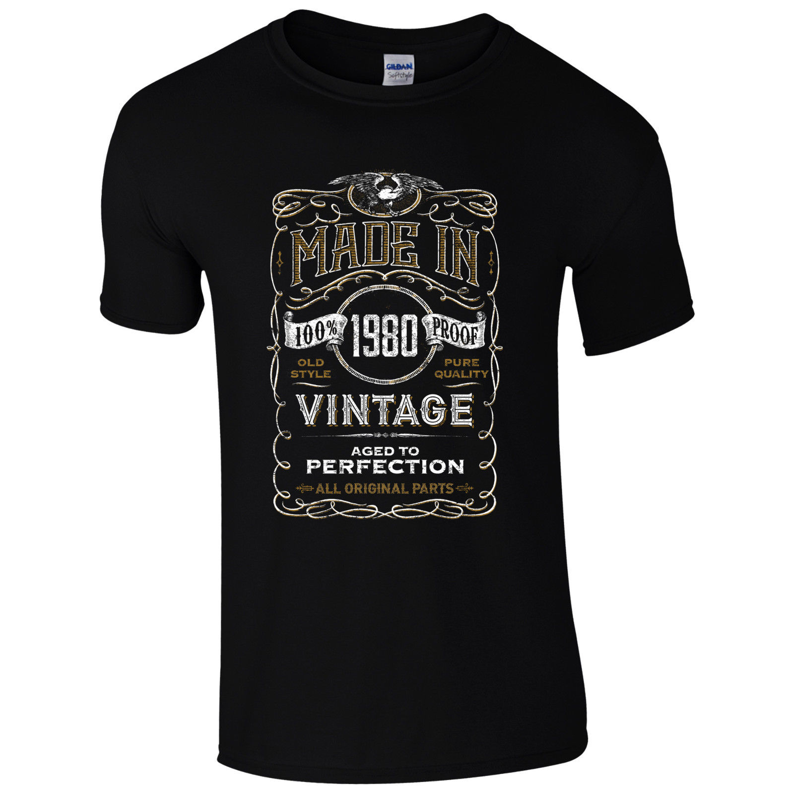 popularshop 38th Birthday Funny Shirt Vintage 1980 Men Women T Shirt