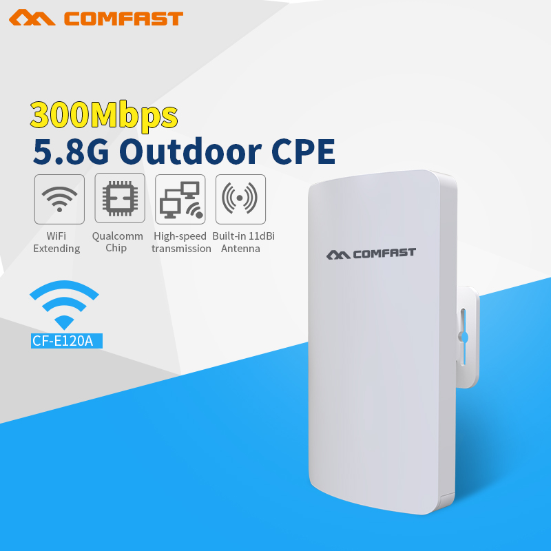 2018 Comfast 300Mbps 5.8Ghz outdoor Access Point AP with 11dBi WI-FI Antenna wireless bridge CF-E120A WIFI CPE Nanostation wifi