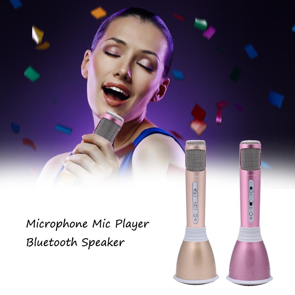 Multi-functional Bluetooth Wireless Microphone Bluetooth Handheld Karaoke Microphone+Speaker Home KTV karaoke Player L3FE